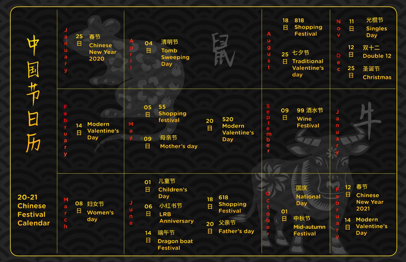 chinese festival calendar